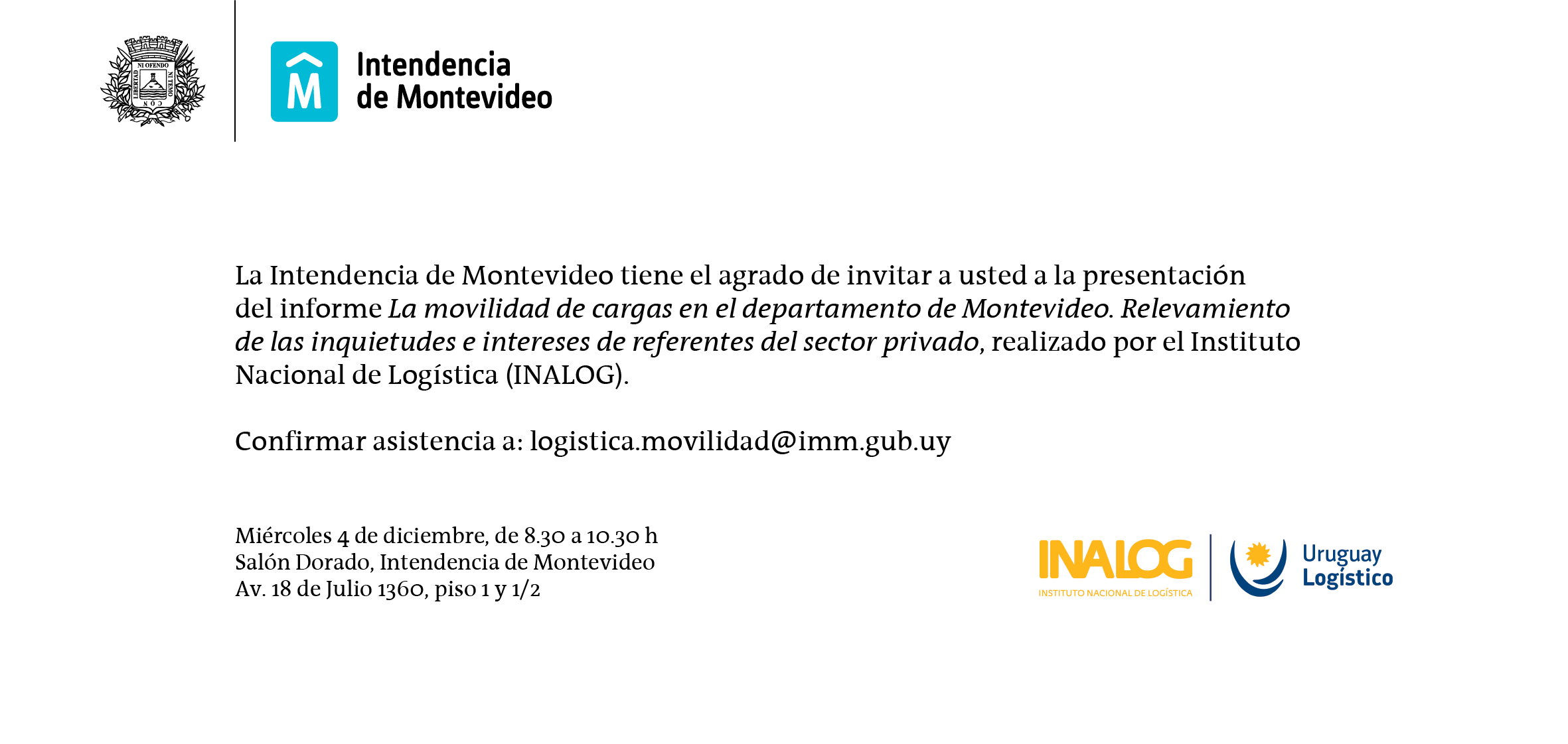 invitacion evento logistica